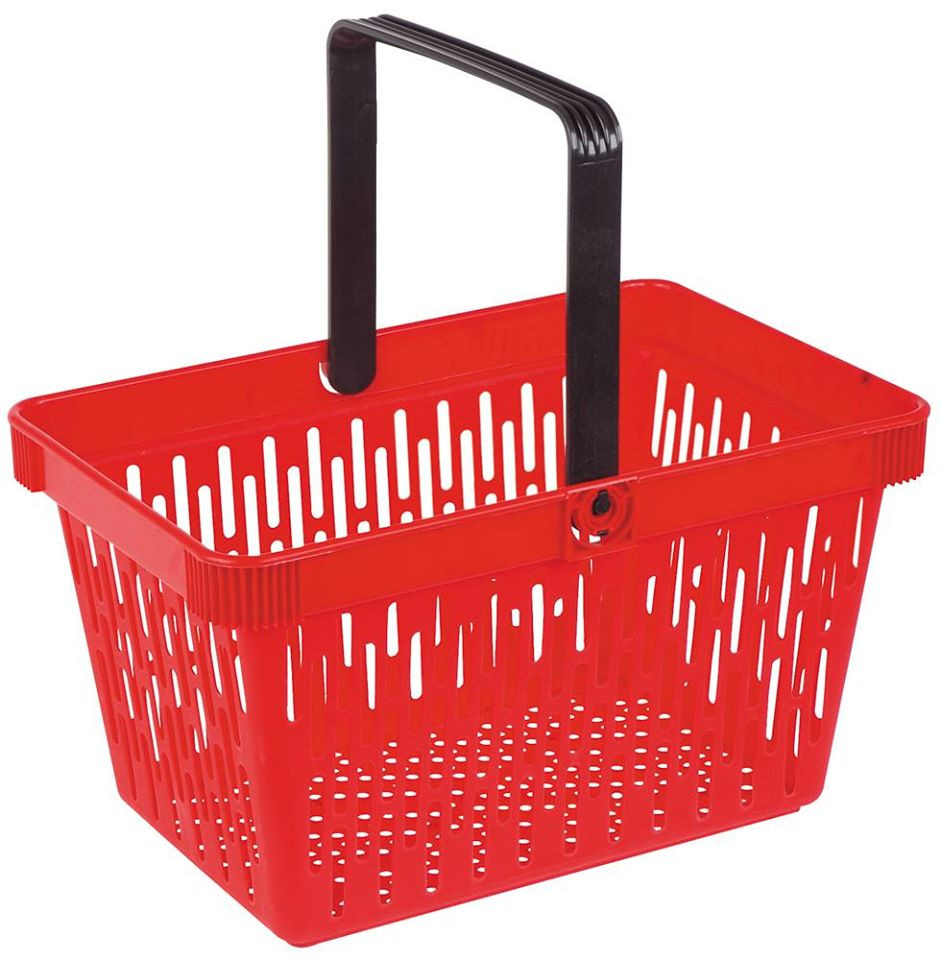 One handle shopping basket