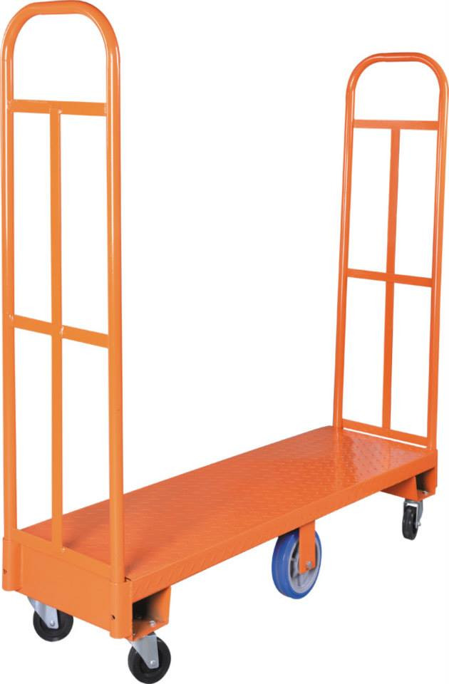 6-wheel U-Shaped warehouse trolley