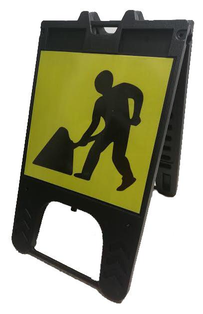 Men at Work Free Standing Sign
