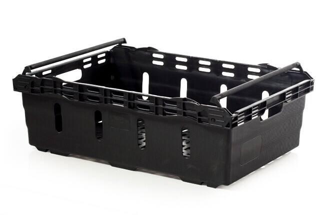 Black Vegetable Crates