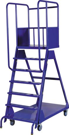 7 Step Warehouse Ladder on Wheels