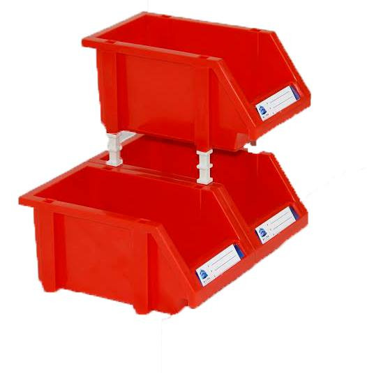 Red Stack Bins