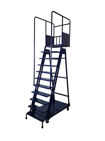 11 Step Warehouse Ladder on Wheels