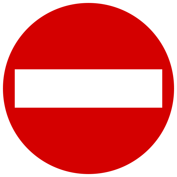 One-Way Sign