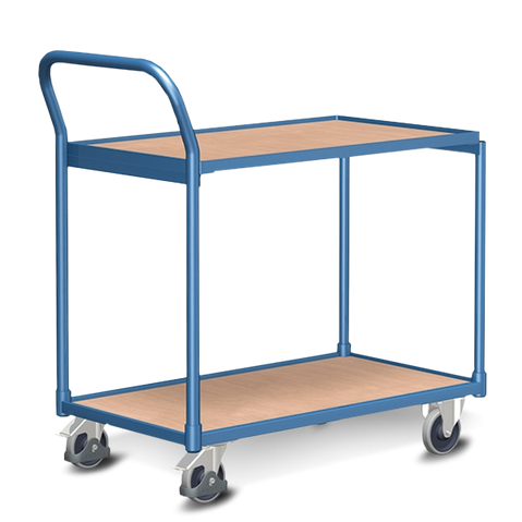 Trolley with top shelf and Wheels with Brakes