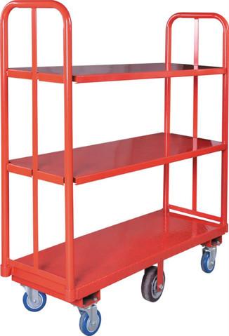 6-Wheels U-shaped Trolley with Shelves