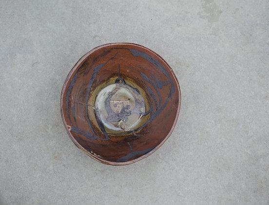 Dark Raku Kufic Bowl
