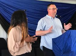 Darren preaching at Lulukane