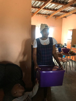 baby box delivery in a home