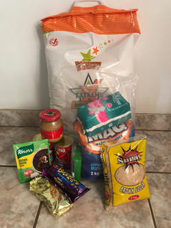 Typical food parcel