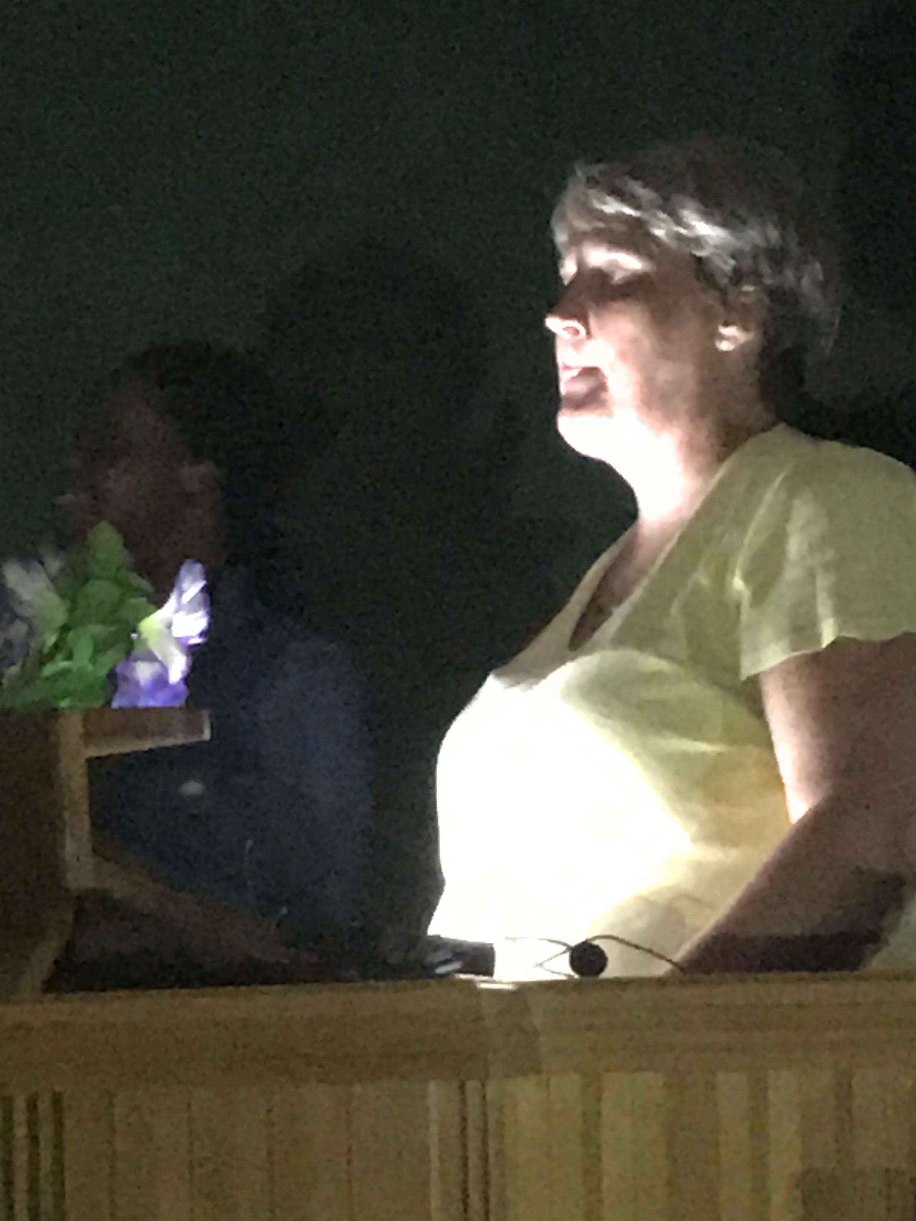 Sereba Emmanuel, preaching in darkness