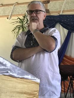 Billy Fenning in pensive mood teaching E