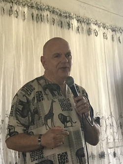 Keith preaching in Harare
