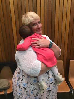 Barbie hugs!