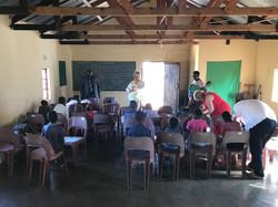 Rhi leading Sunday School Steenbok