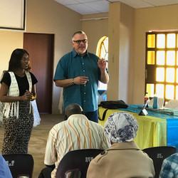 Keith training local leaders Steenbok