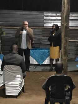 Keith preaching at revival at Nyakeleng.