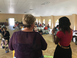 Barbie giving her testimony at Steenbok.