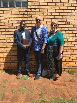 Pastor Mike and us at Vosloorus
