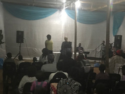 Barbie speaking at Nyakaleng 4