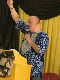 Leith speaking at Nkomo-B