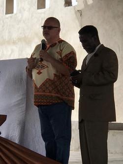 Keith Preaching at Selwane Emmanuel