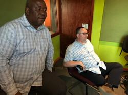 Darren and Moruti Mogale at Radio Statio
