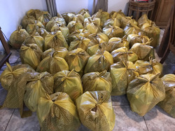 Batch one made fifty food parcels