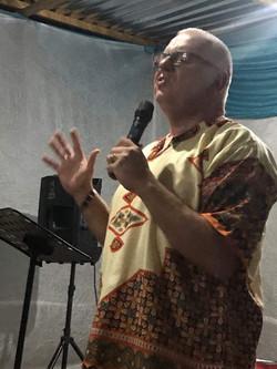 Keith preaching at Nyakaleng 4