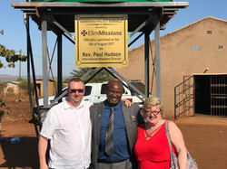 Darren and Rhi with CP Khosa at borehole