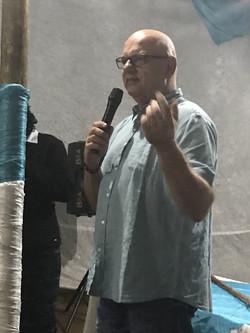 Speaking at Nyakaleng 4