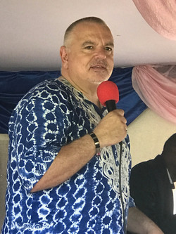 Keith speaking at Lulekane