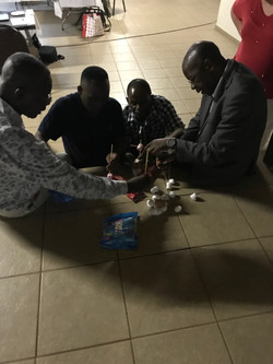 Team building with Lulekane leaders