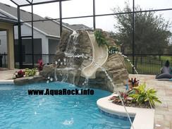 Pool waterfall rock slide 5
