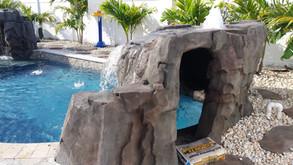 swimming pool grotto waterfall 15