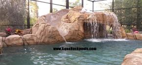 pool rock slide grotto 8