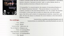 ➲ O Cosmopolítico é indexado pelo Latindex