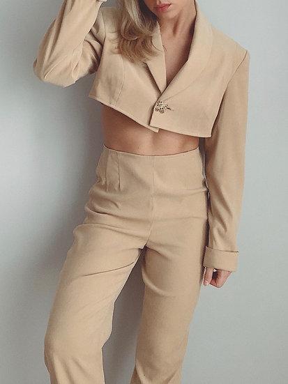 3pc camel suit