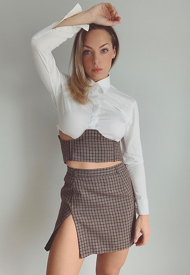 plaid mini+corset