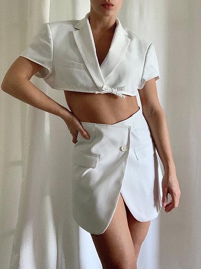 white blazer set