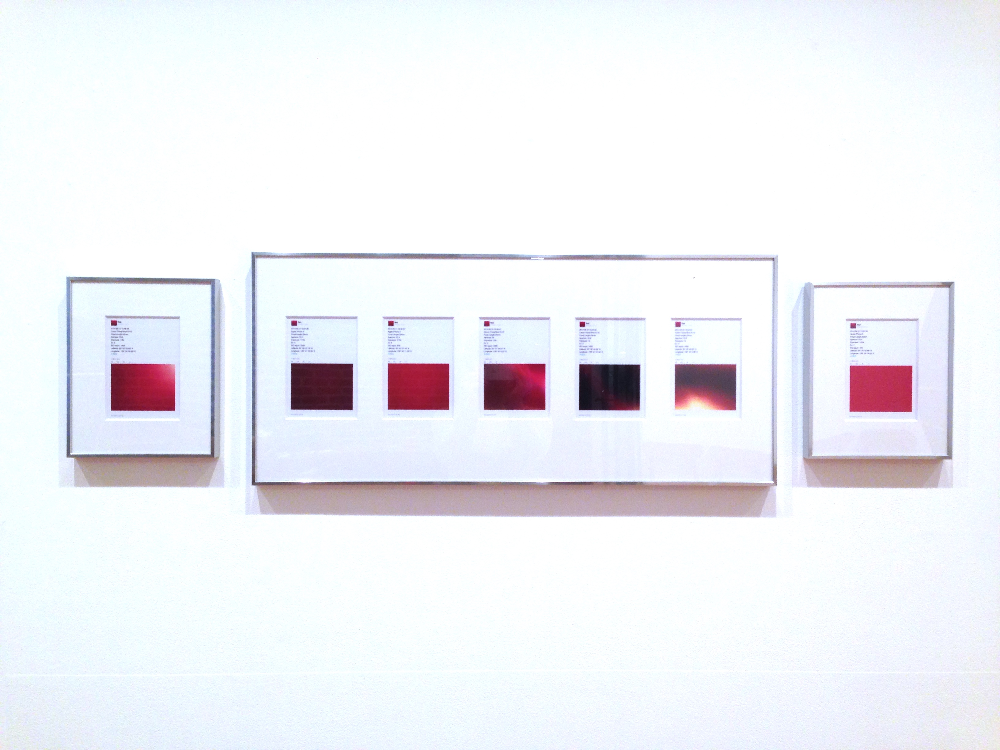 RED series (installation view)