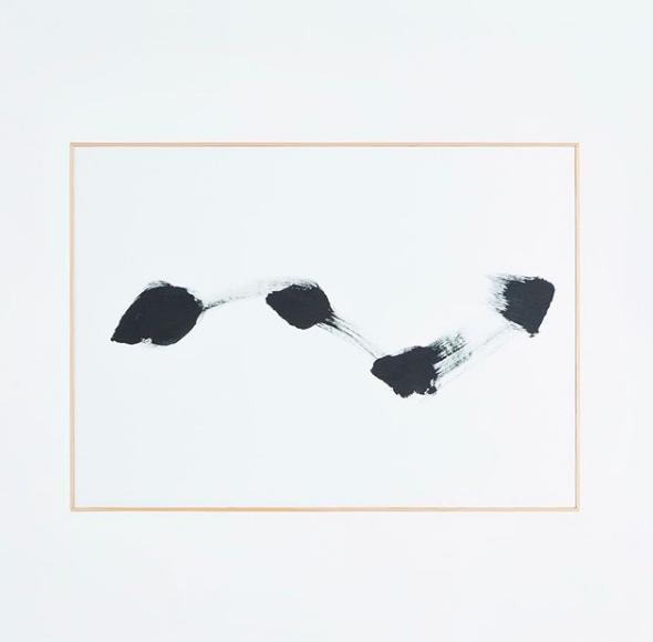 Dot series|2018|66.7×92.5 cm|Acrylic on paper ©Yasunari Kuwano