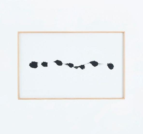 Dot series|2018|347×545mm|Acrylic on paper ©Yasunari Kuwano