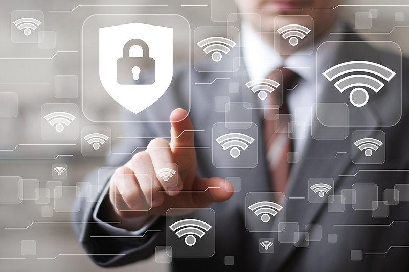 Social network Wifi business button lock
