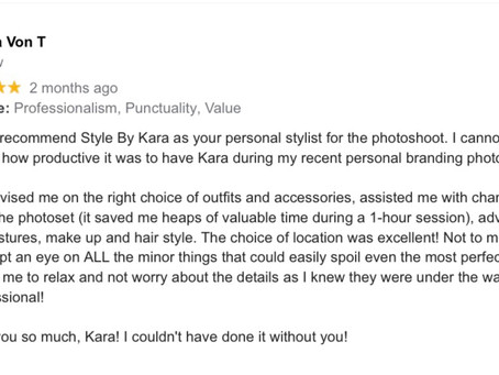Feedback from my clients