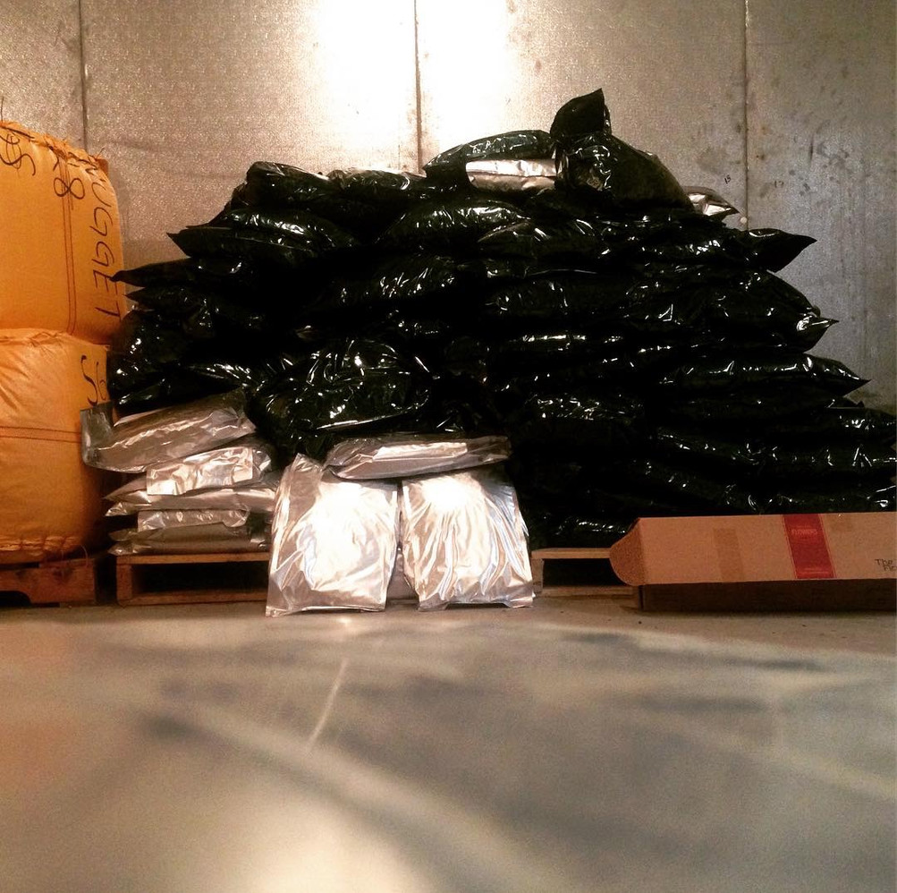 Mylar bags, ready for the brew!