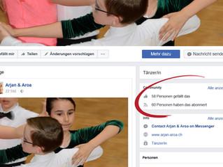 Facebook: Nach 3 Tagen schon 60 Abonnenten!