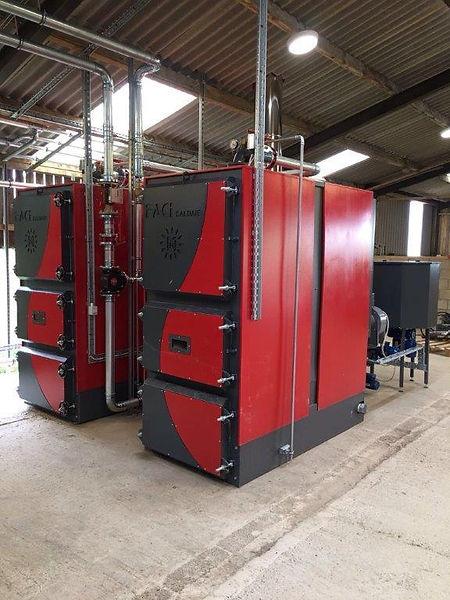 FACI 390 Biomass boiler front view