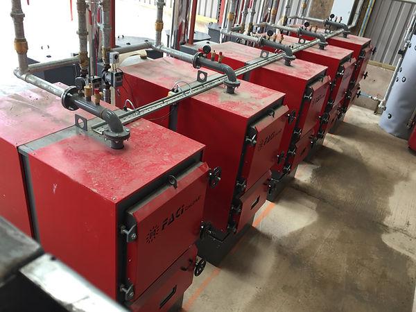 FACI Biomass Boiler installed in a row