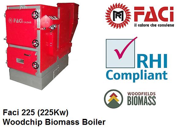 FACI 225 Biomass Boiler front view